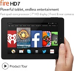"Amazon Kindle Fire 7"" Tablet, HD7"